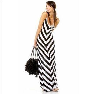 Chevron Black And White Dress